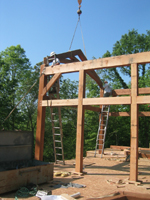 Dave Shepler (2009) - Trusses going up